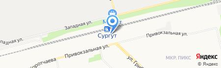 Уральские сувениры на карте Сургута