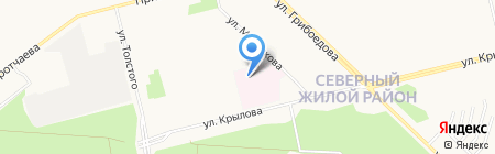Отделенческая клиническая больница на ст. Сургут на карте Сургута