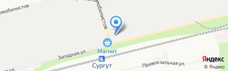 СУРГУТПРОМЖЕЛДОРТРАНС на карте Сургута