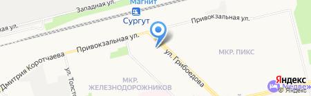 Банкомат Запсибкомбанк на карте Сургута