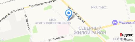 Парикмахерская на карте Сургута