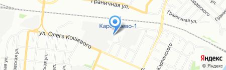 Жестянка на карте Омска