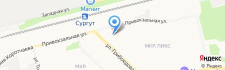 Сургутский музыкально-драматический театр на карте Сургута