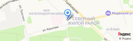 Баня на ул. Мечникова на карте Сургута