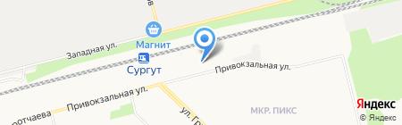 Арина на карте Сургута
