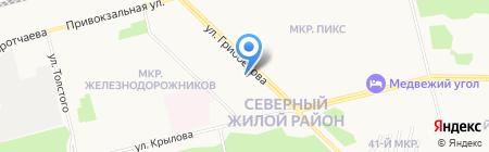 Почтовое отделение №14 на карте Сургута