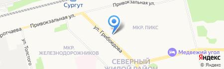 Грузоперевозки-24 на карте Сургута