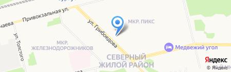 Сидим-Дымим на карте Сургута