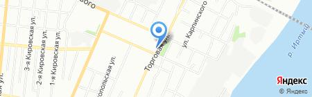 Одноразовая посуда на карте Омска