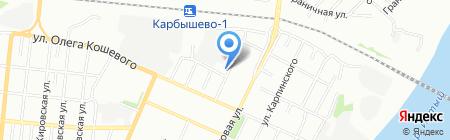 Магазин канцелярских товаров и игрушек на ул. Профинтерна на карте Омска