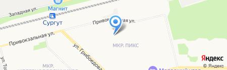 Строительно-монтажный поезд №584 на карте Сургута