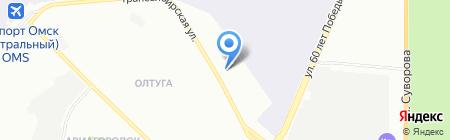 Мандарин на карте Омска
