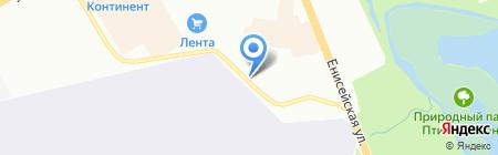Vodoley на карте Омска