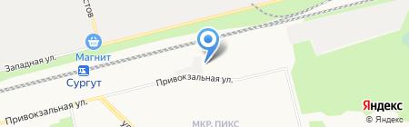 РосСнабСтрой на карте Сургута