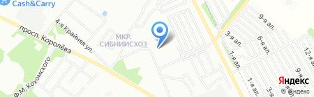 Детский сад №4 на карте Омска
