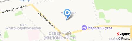 Отопление и вентиляция на карте Сургута