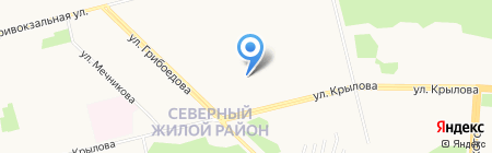 Сургутский центр занятости населения на карте Сургута