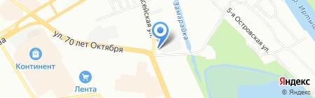 Левобережный на карте Омска