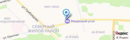 Клюква на карте Сургута