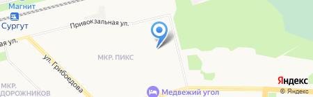 Мини-гостиница на карте Сургута