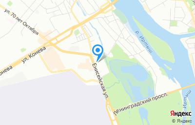 Местоположение на карте пункта техосмотра по адресу г Омск, ул Енисейская, д 3В