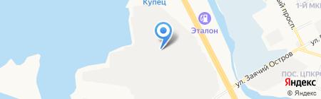 Первый Кузовной на карте Сургута