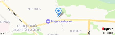 Продуктовый магазин на ул. Крылова на карте Сургута