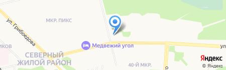 Сема на карте Сургута