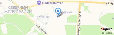 Продуктовый магазин на ул. Усольцева на карте Сургута
