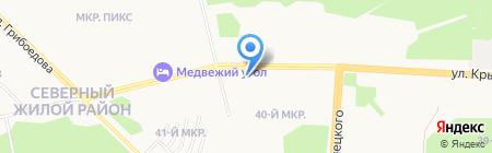 ТОП-окна на карте Сургута