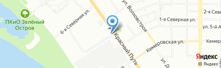 Батель на карте Омска