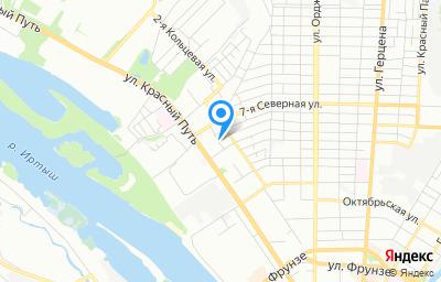 Местоположение на карте пункта техосмотра по адресу г Омск, ул 5-я Северная, д 2, пом 1П