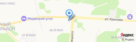 Аванпласт Окна на карте Сургута