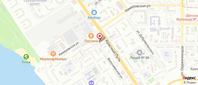 Карта расположения пункта доставки Омск Красный Путь в городе Омск