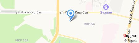 Продовольственный магазин на ул. Игоря Киртбая на карте Сургута