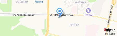 Магазин фруктов и овощей на ул. Игоря Киртбая на карте Сургута