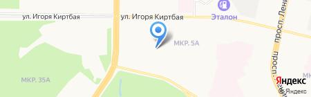 Крошка на карте Сургута