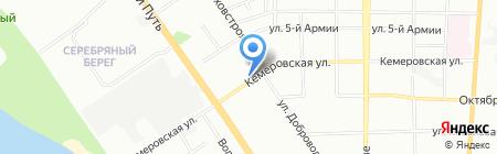 Гланс-М на карте Омска