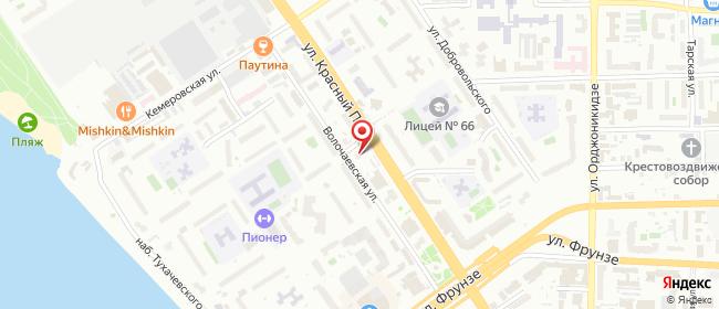 Карта расположения пункта доставки Билайн в городе Омск