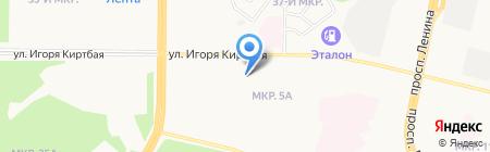 Тюменское центральное агентство воздушных сообщений на карте Сургута
