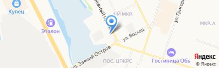 PIZZA HANS на карте Сургута