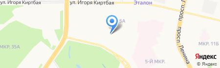 Николаевский на карте Сургута