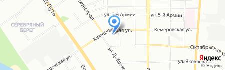 Окна Роста на карте Омска