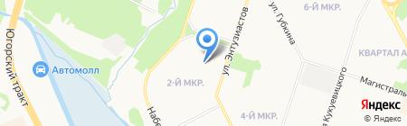 Петрушка на карте Сургута
