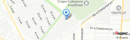 Полярная звезда на карте Омска