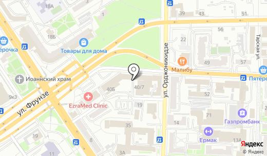 Авилон. Схема проезда в Омске