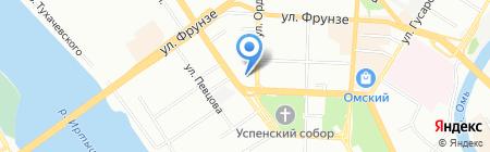 Маяковский на карте Омска