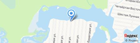 Дача на Чёрной речке на карте Сургута