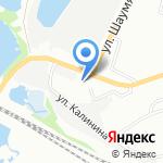 Желтый ангар на карте Омска