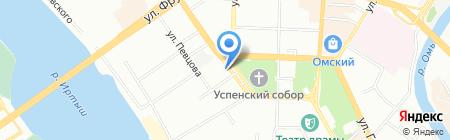 Сибирская туристическая компания на карте Омска